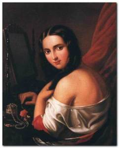 Jakab_Marastoni_-_Woman_Seated_before_a_Mirror_-_WGA14040