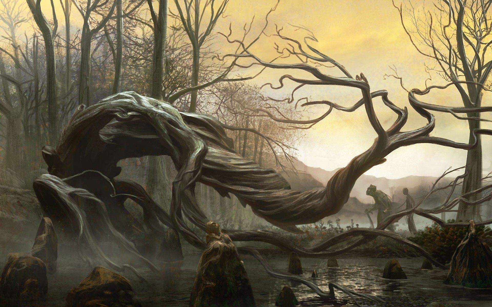 Beautiful Wallpaper Horse Creepy - fantasy-dark-cg-digital-art-spooky-landscapes-creepy-trees-hd-wallpapers  Pic_33308.jpg