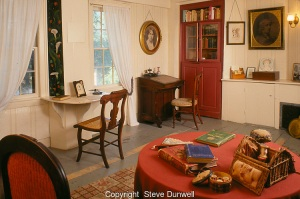 Louisa May Alcott bedroom and study, Concord, MA Orchard House